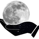 Moon in Hands by schlarr