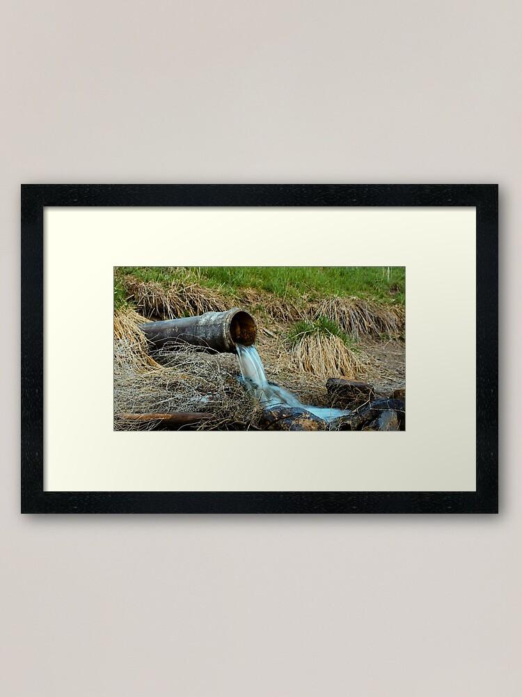 Alternate view of Rusty Pipe Framed Art Print