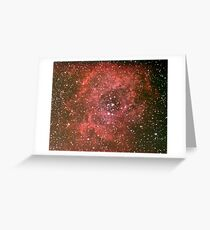rosette nebula Greeting Card