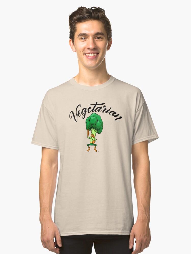 Broccoli Nija Vegetarian Foodietoon Classic T-Shirt Front