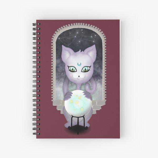 Mystic Miku   Crystal Ball & Zodiac   Wine Red Spiral Notebook