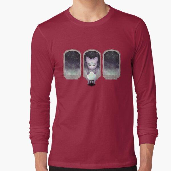Mystic Miku | Crystal Ball & Zodiac | Wine Red Long Sleeve T-Shirt