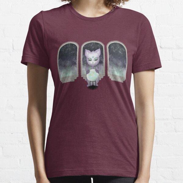 Mystic Miku   Crystal Ball & Zodiac   Wine Red Essential T-Shirt