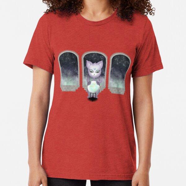 Mystic Miku | Crystal Ball & Zodiac | Wine Red Tri-blend T-Shirt