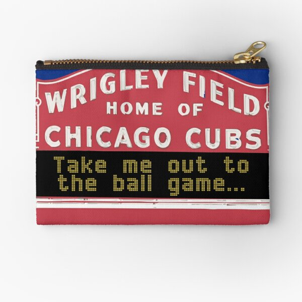 Take Me Out to the Ball Game, Wrigley Field Zipper Pouch