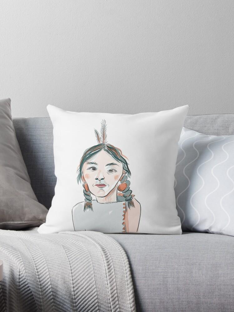Native American Woman - 1 by Rothnie