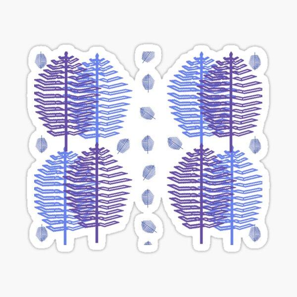 Ultravioletbluesleafpattern Sticker