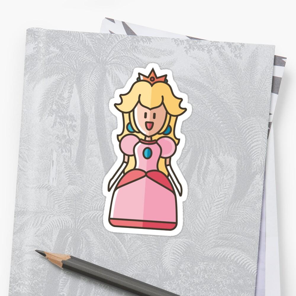 Princess Peach Sticker by Giulia  Ortu