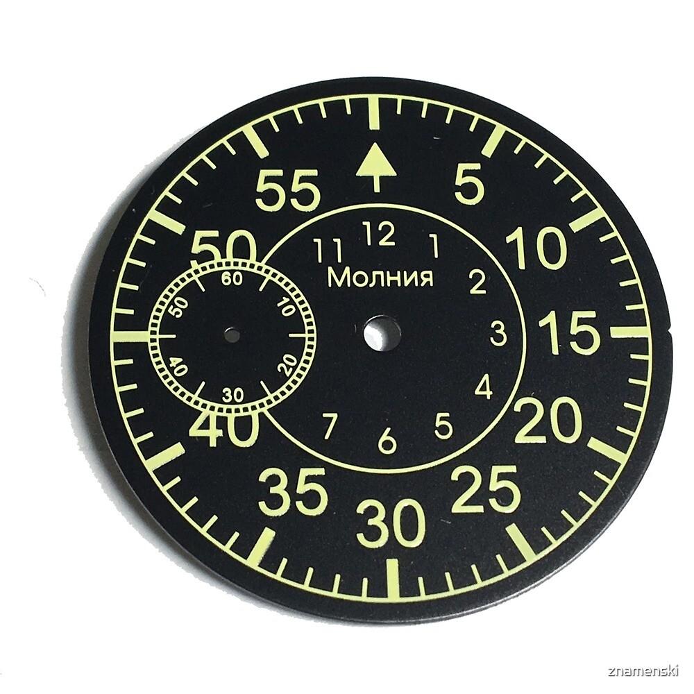 Old Russian stopwatch's dial by znamenski