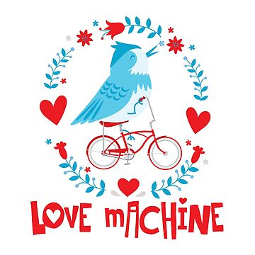 Blue Bird Love Machine on a Bicycle by wearweird