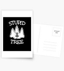 Dummer Baum V9 Postkarten