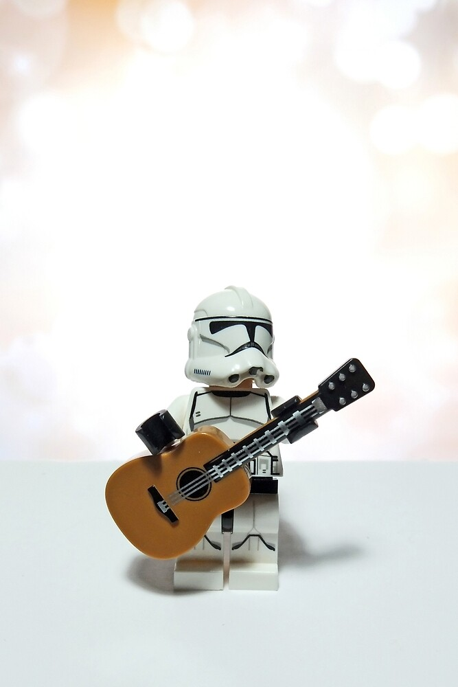 Clone Trooper playing his guitar by BreathingBricks
