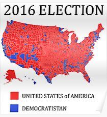 2016 Election Map: Posters | Redbubble