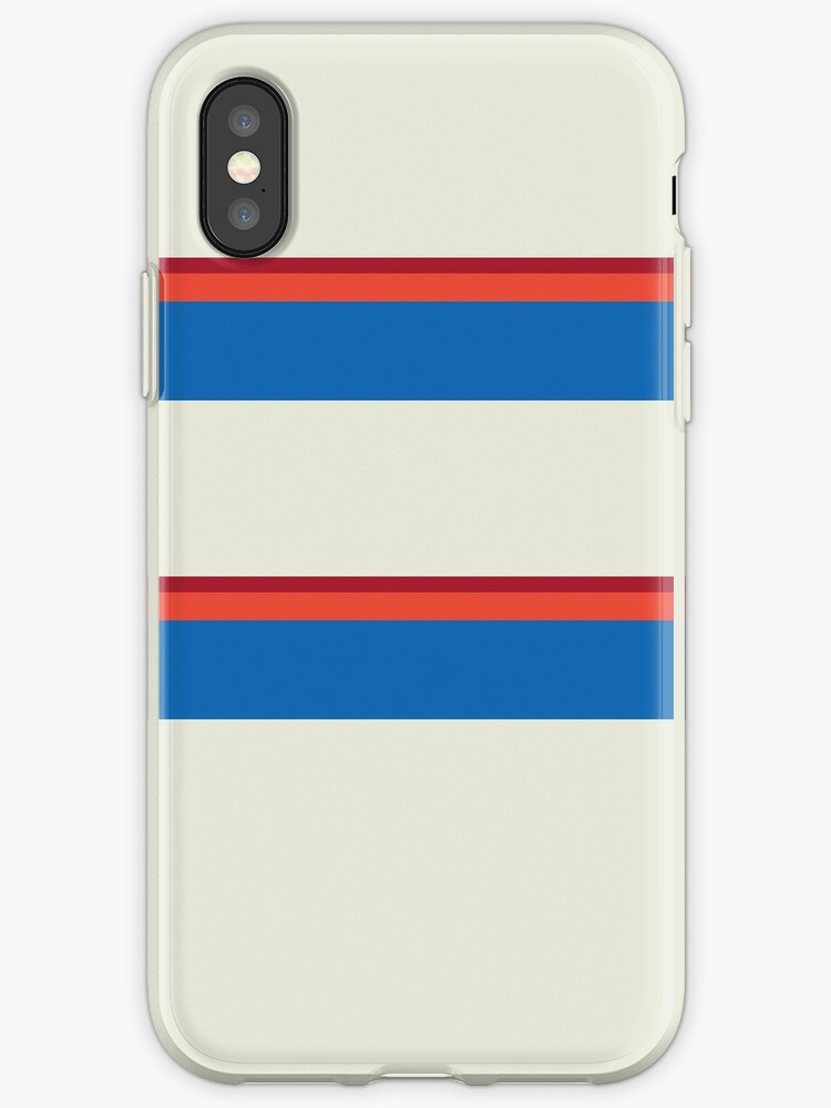 Cream/Blue/Orange/Red Big Stripe by sidebar