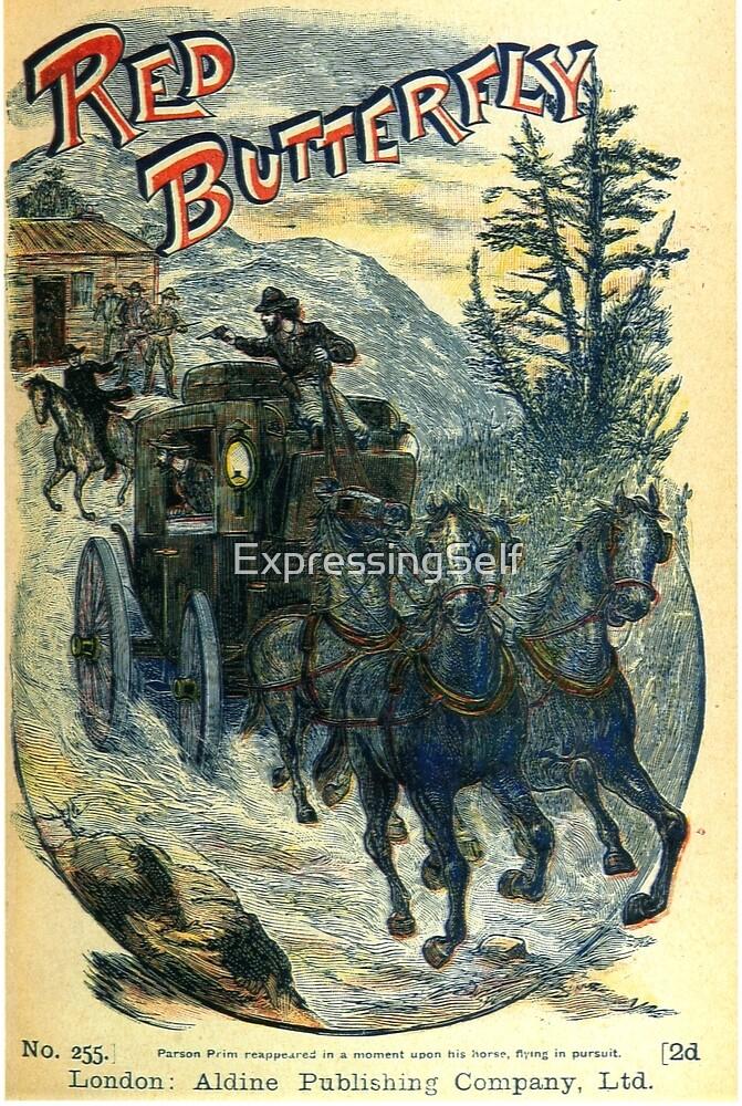 Pulp Fiction Cover Original Artwork 1800s by ExpressingSelf