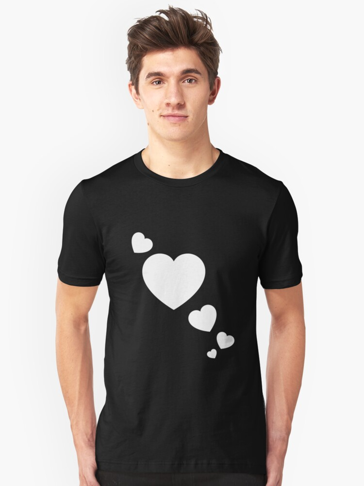 Cool Valentines Day Hearts V2 Unisex T-Shirt Front