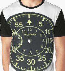 Old Russian stopwatch's dial Циферблат старинного русского секундомера  Graphic T-Shirt
