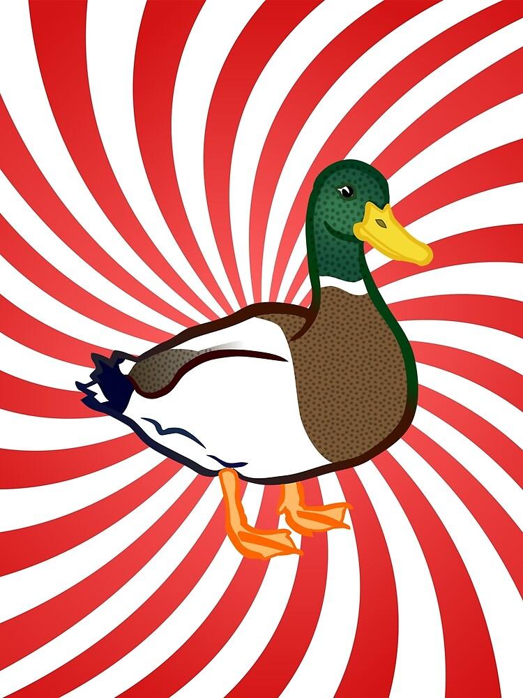 amazing duck  by happymigrane