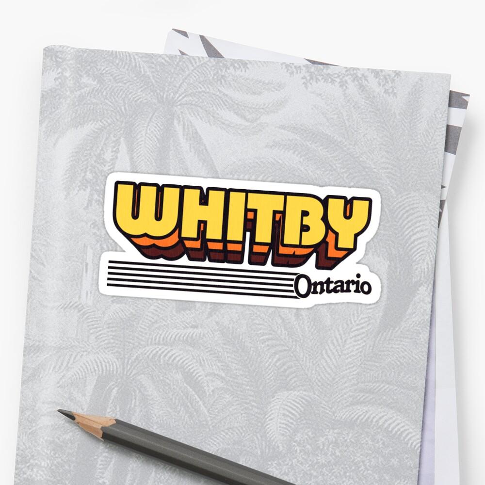 Whitby, Ontario | Retro Stripes by retroready