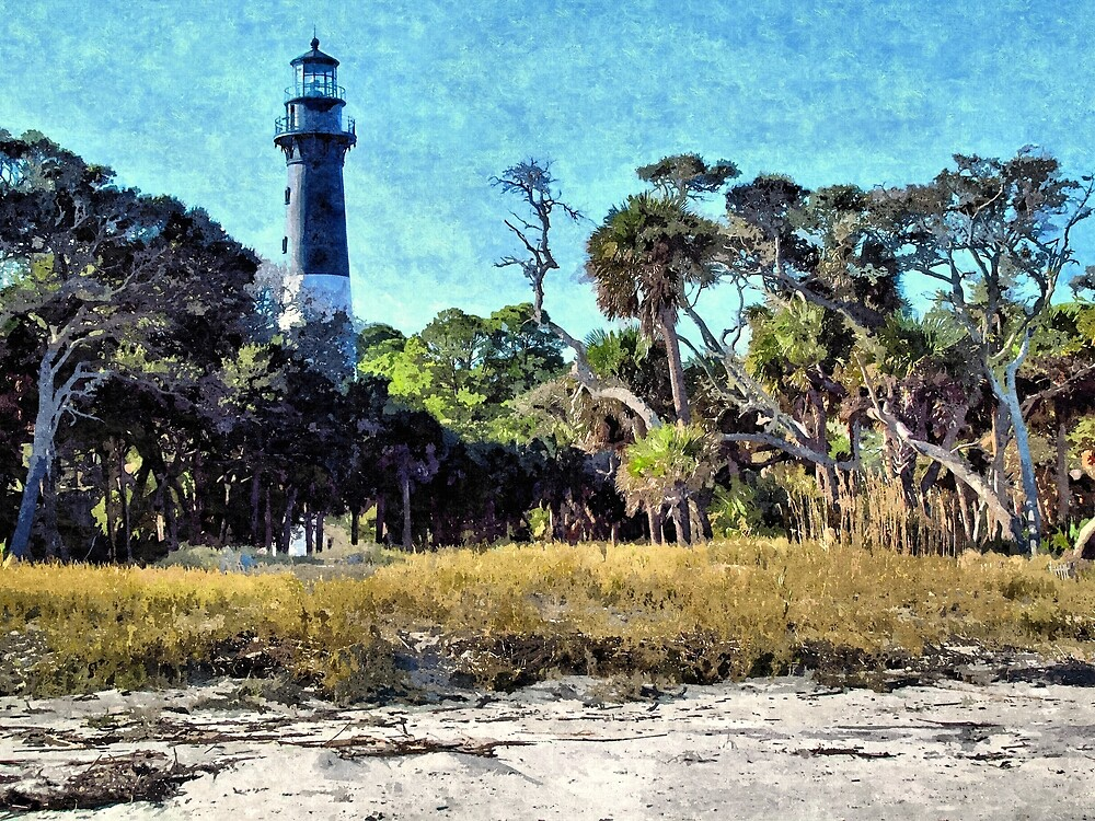 South Carolina Light House - Artistic by jtrommer