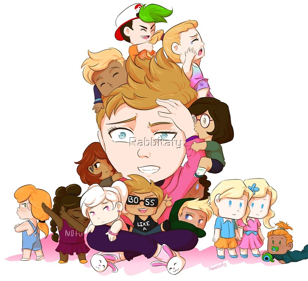 Pixlpit and Chase Brody's 13 Children by Rabbitafy