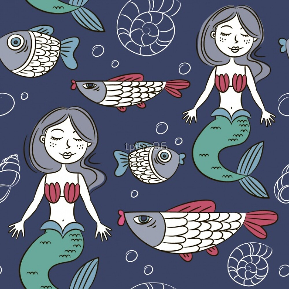 Mermaid Pattern by tpitre96