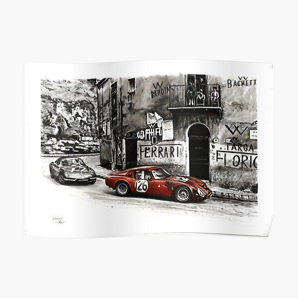 Targa Florio 1966. Alfa Romeo TZ-2 Poster