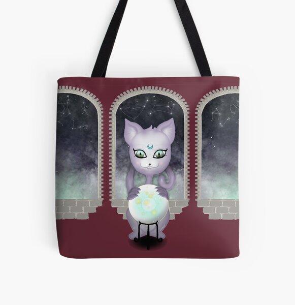 Mystic Miku   Crystal Ball & Zodiac   Wine Red All Over Print Tote Bag