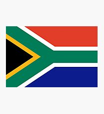 Flag of South Africa Photographic Print