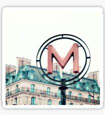 Paris Pink Metro Sign  Sticker