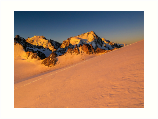 Alpine sunrise on Aiguille du Tour in the French Alps near Chamonix by Chris Warham