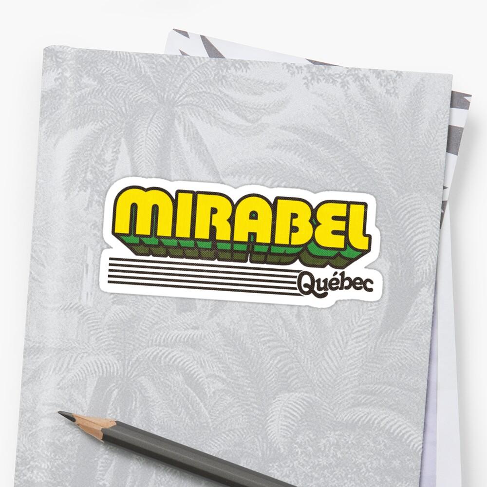 Mirabel, Québec | Retro Stripes by retroready