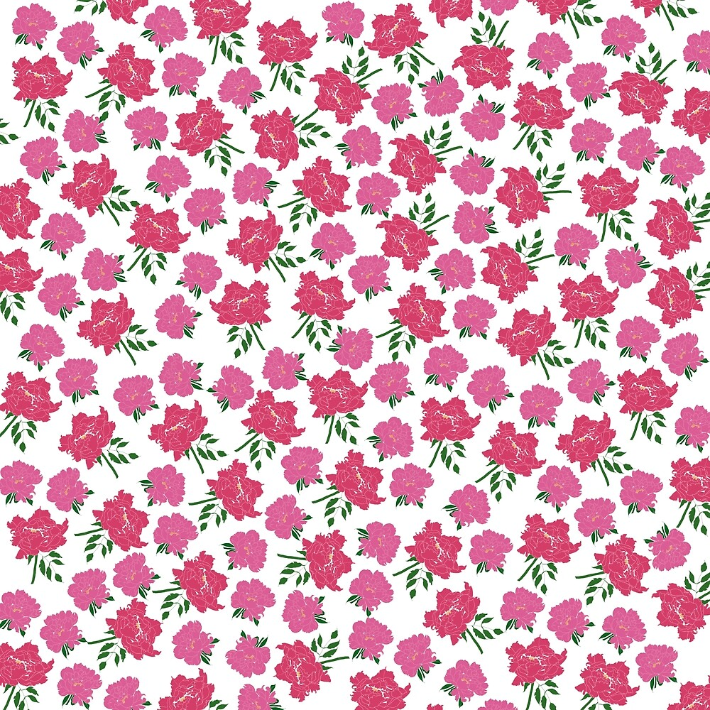 smallerchinoiseriepeonyprint by mollymagenta