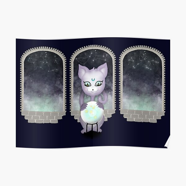 Mystic Miku   Crystal Ball & Zodiac   Navy Poster