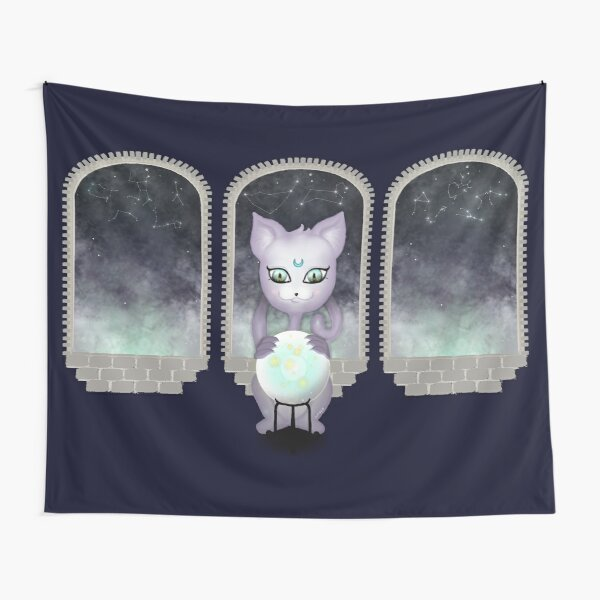 Mystic Miku | Crystal Ball & Zodiac | Navy Tapestry