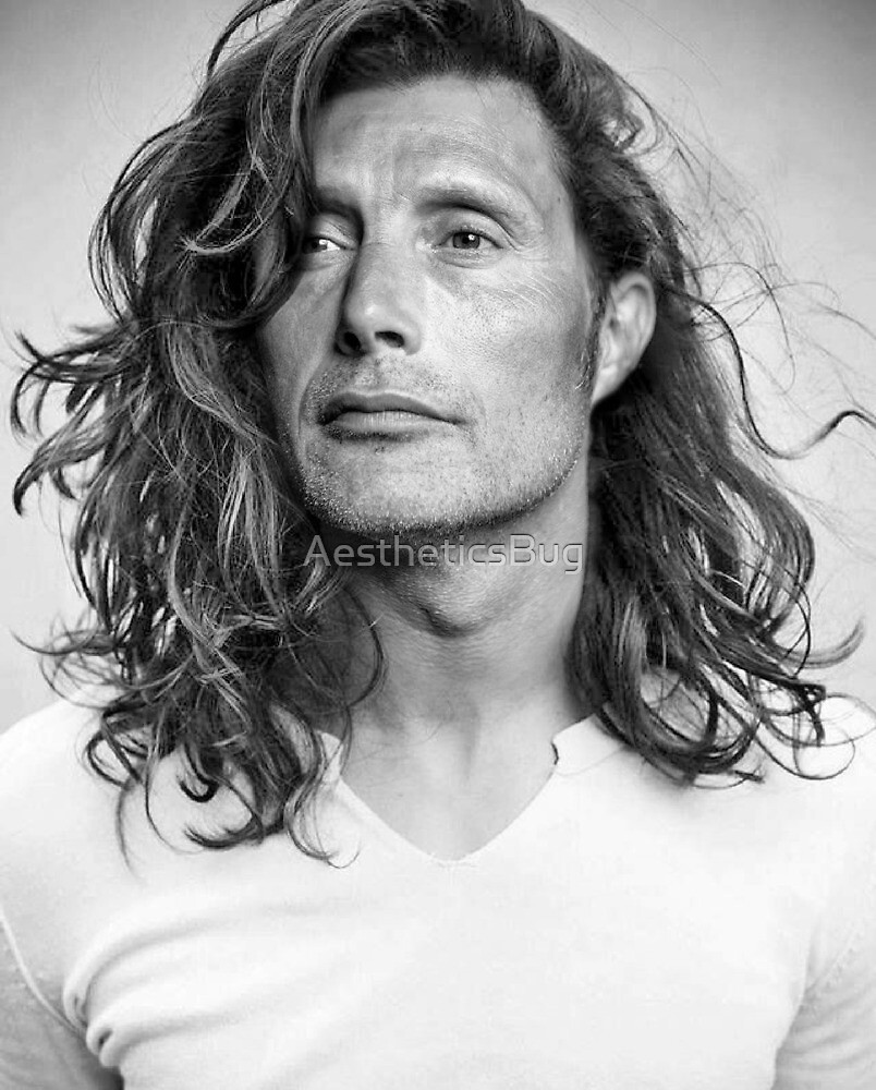Mads Mikkelsen - Long Hair Edit 1 by AestheticsBug