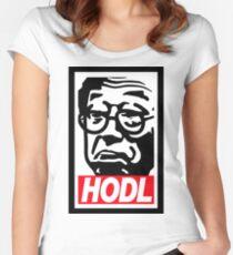 Hodl - Satoshi Nakamoto Bitcoin Meme  Women's Fitted Scoop T-Shirt