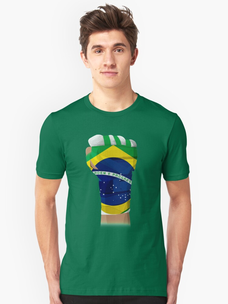 BRAZIL FIGHTING PRIDE  Unisex T-Shirt Front