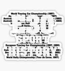 E30 Sport History Sticker