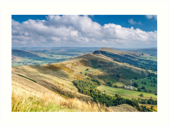 Peak District - The Great Ridge above Castleton, Derbyshire by Chris Warham