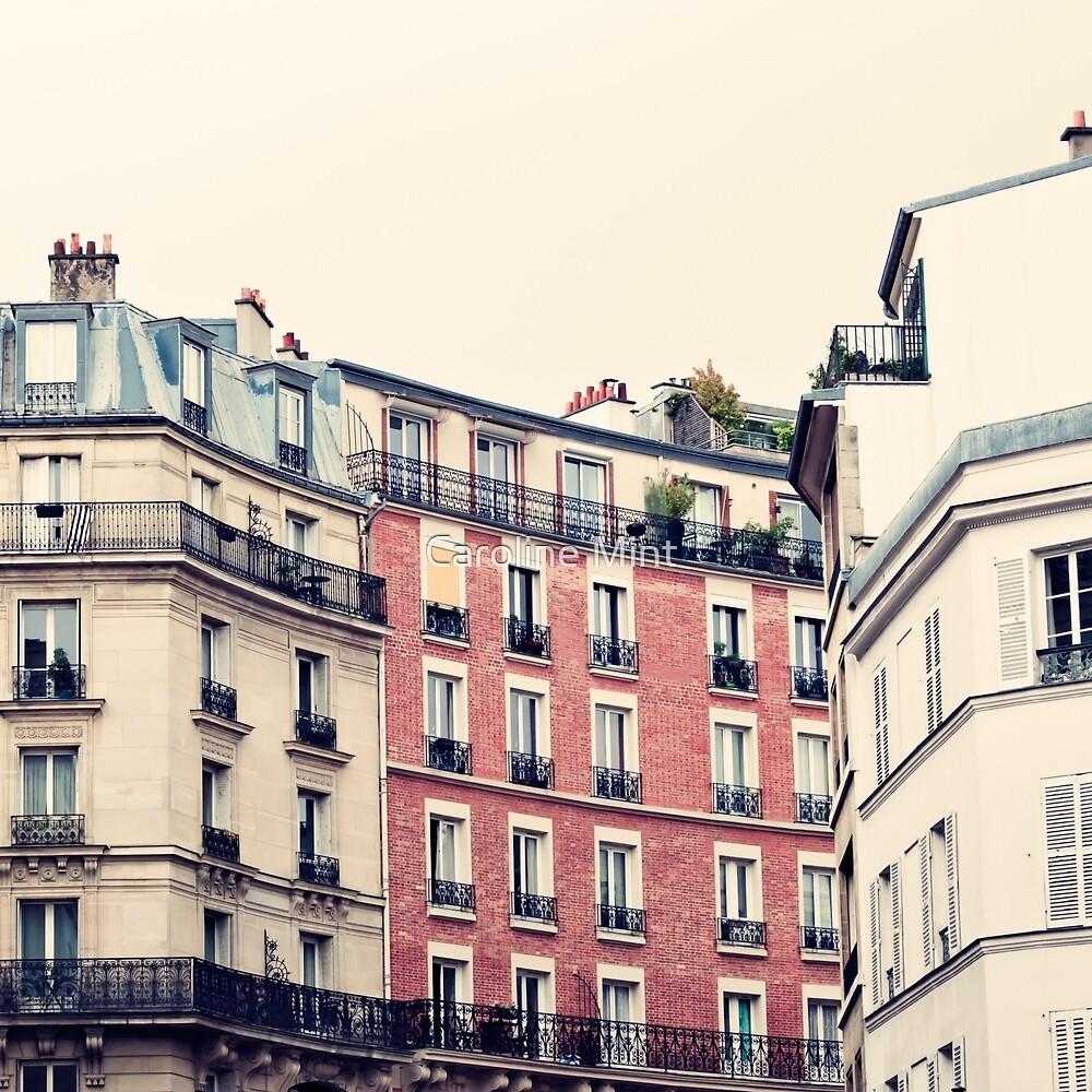 Paris Pink Facades, Montmartre  by Caroline Mint