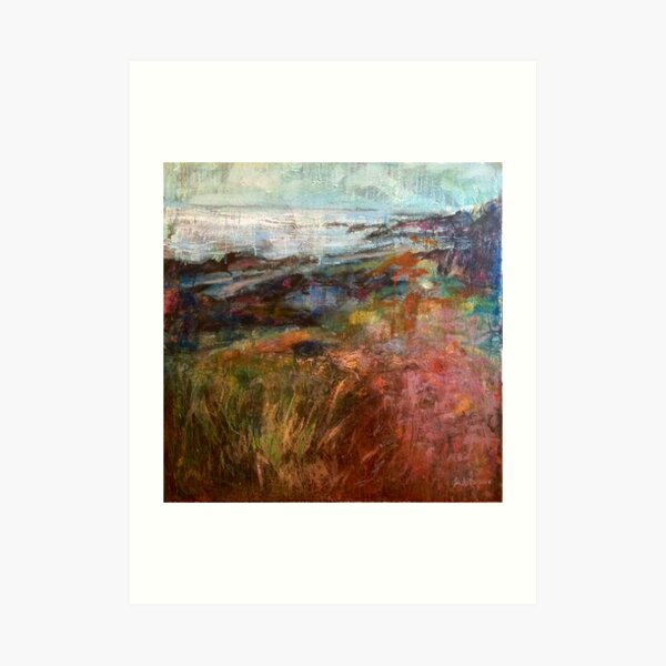 Moville Shore Path Art Print
