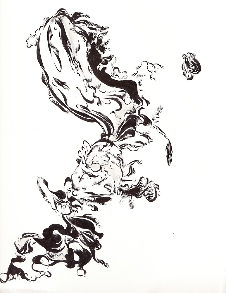Abstract Ink Blot by LaurenDavies