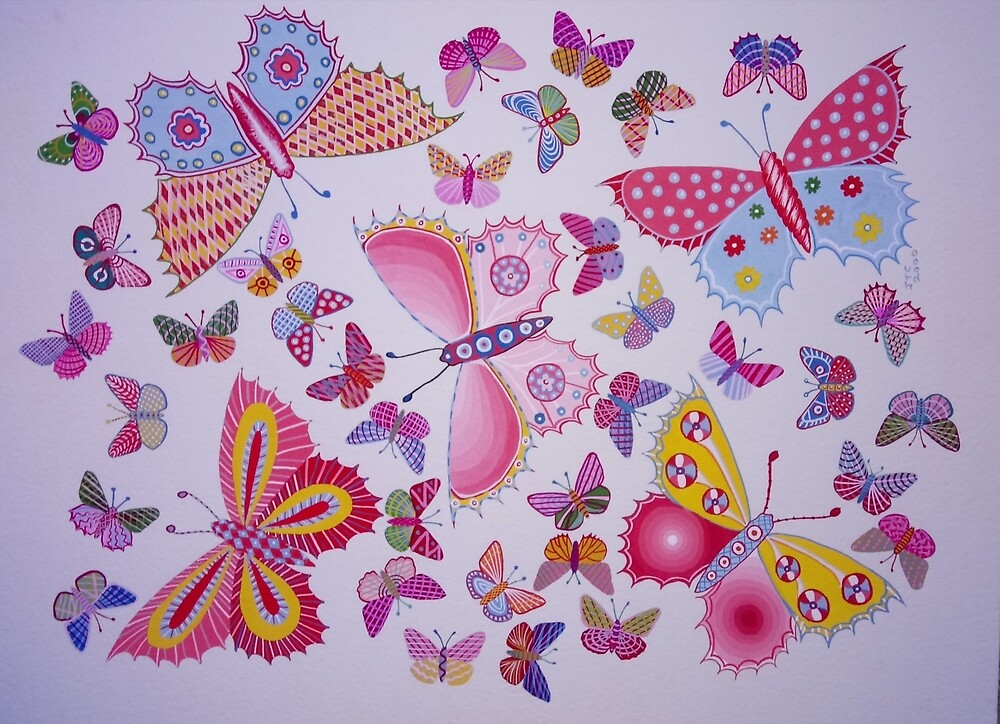 Abstract Butterflies 1 by brooke1312