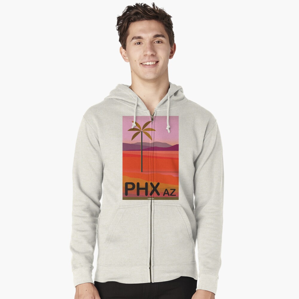 Phoenix Arizona Travel Poster Zipped Hoodie