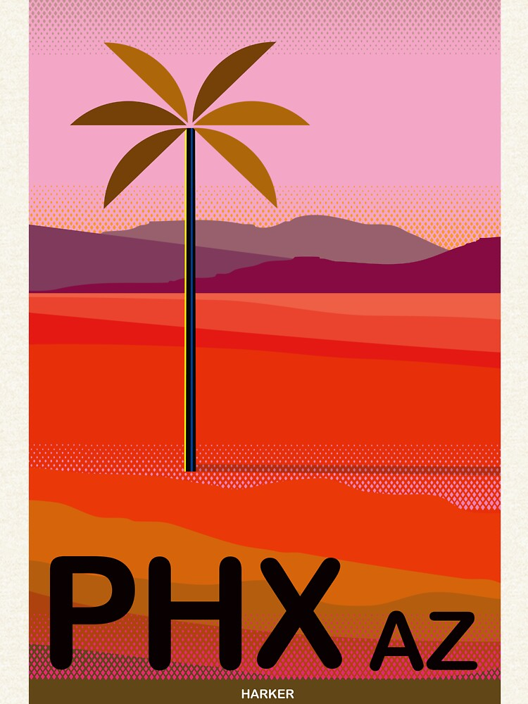 Phoenix Arizona Travel Poster by charker