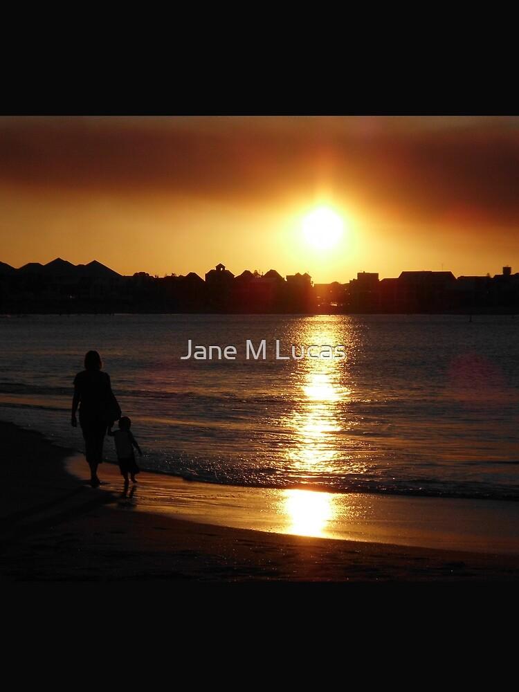 Sunset Silhouette Mandurah Western Australia by artbyjanelucas