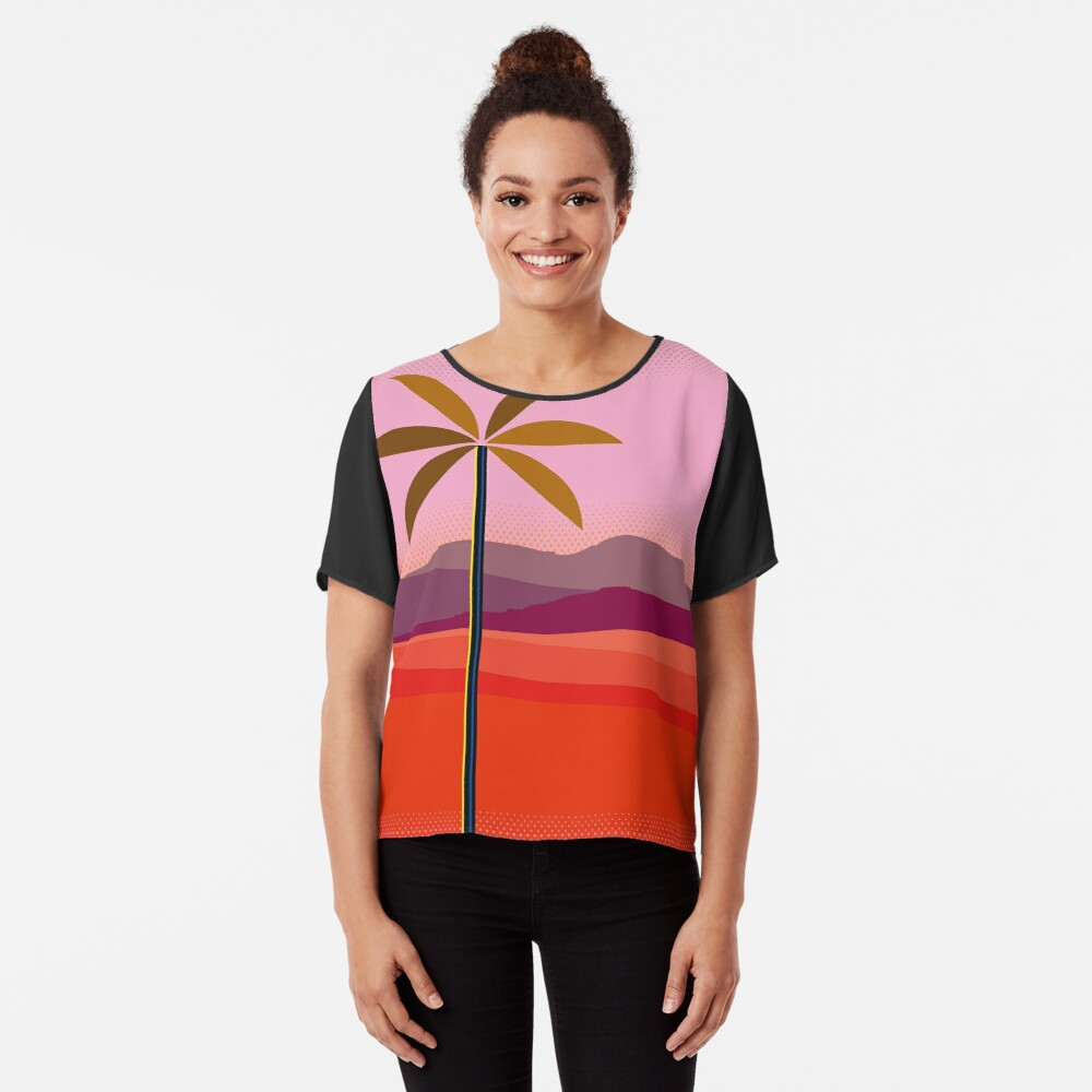 Phoenix Arizona Travel Poster Chiffon Top
