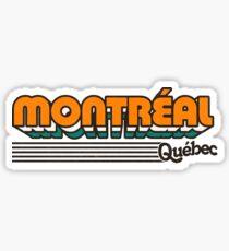 Montréal, Québec | Retro Stripes Sticker