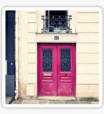 Paris Pink door Sticker